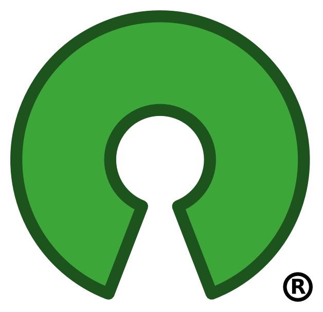 Abb. des Logos der Open Souce Initiative: ein im unteren Bereich unterbrochenes Kreissegment