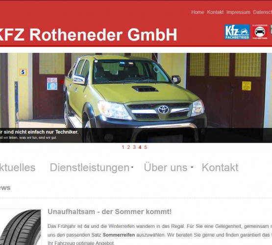 Screenshot Kfz Rothender (2014)