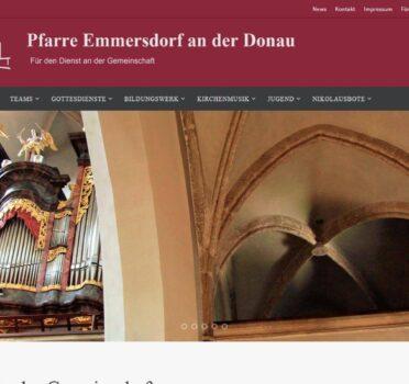 Abb. Screenshot Pfarre Emmersdorf an der Donau (2014)