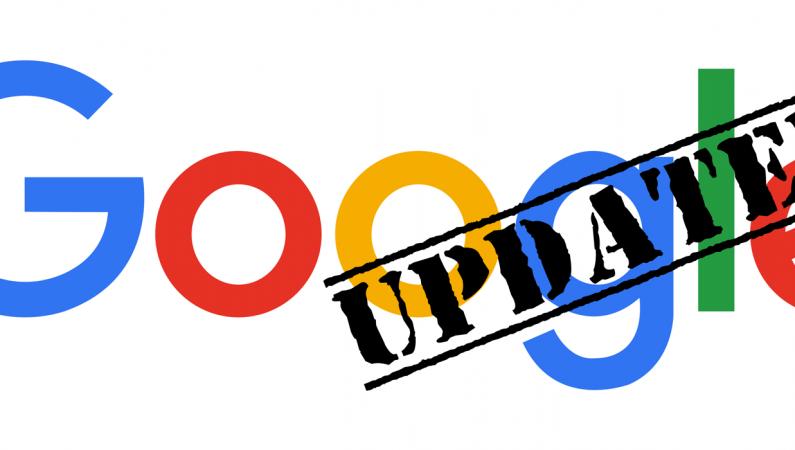 Abb. des Google-Logos mit einem Stempel